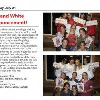 Camp Marimeta Announces Red and White Teams